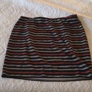 Roz & Ali Striped Skirt Preowned Sz 2X
